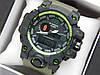 Наручные часы Casio G-Shock GWG-1000 зеленого цвета, красная стрелка