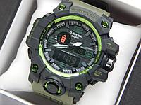 Наручные часы Casio G-Shock GWG-1000 зеленого цвета, красная стрелка, фото 1
