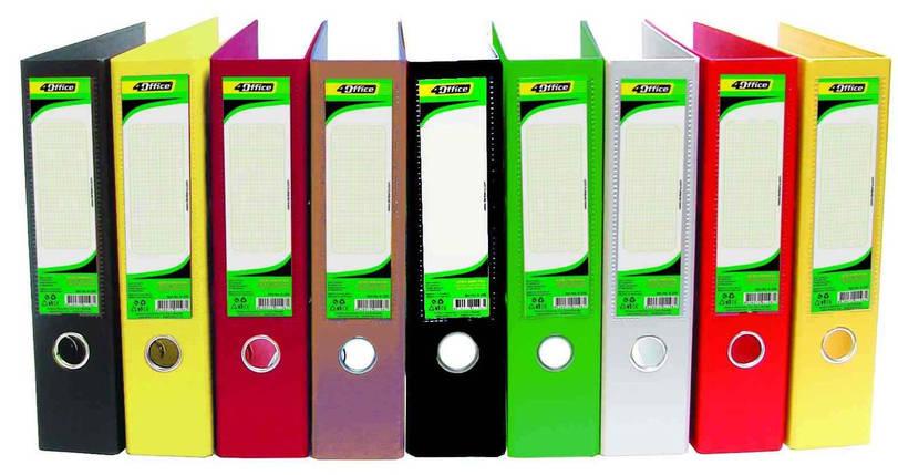 Регістратор 4Office, А4, РP, 7см, жовтий, фото 2