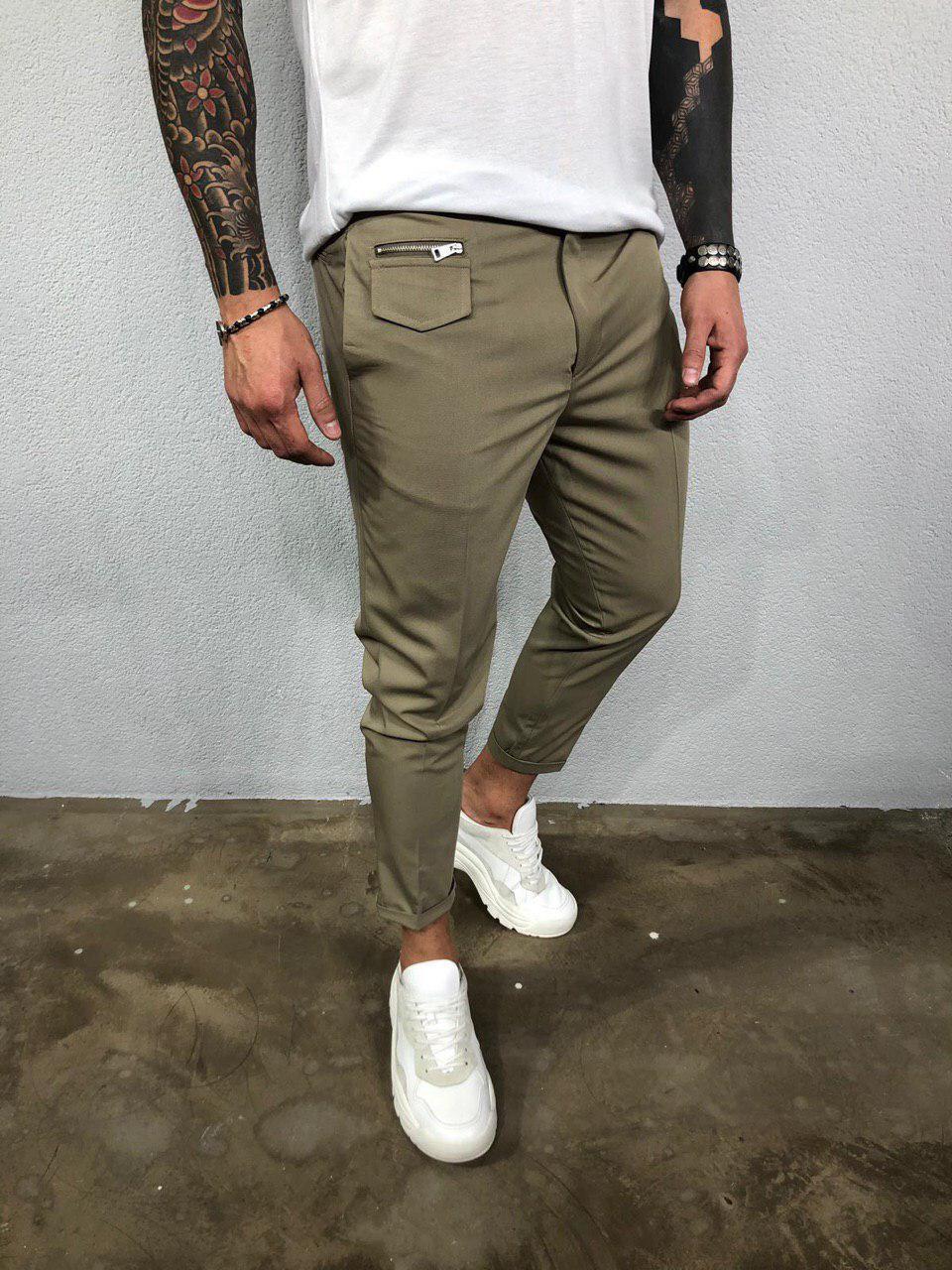 Мужские брюки оливковые Black Island Ada2007