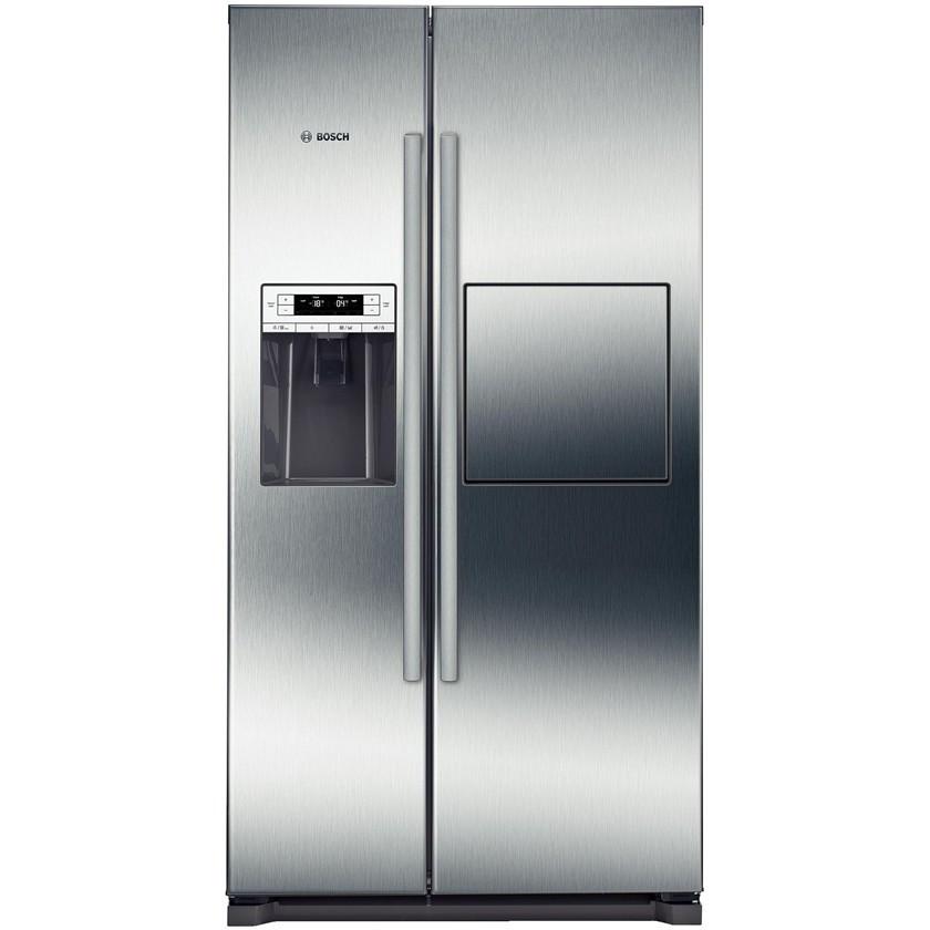 Холодильник side by side с морозильником серебристый Bosch KAG90AI20