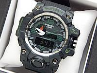 Наручные часы Casio G-Shock GWG-1000 черного цвета с зелеными цифрами, красная стрелка