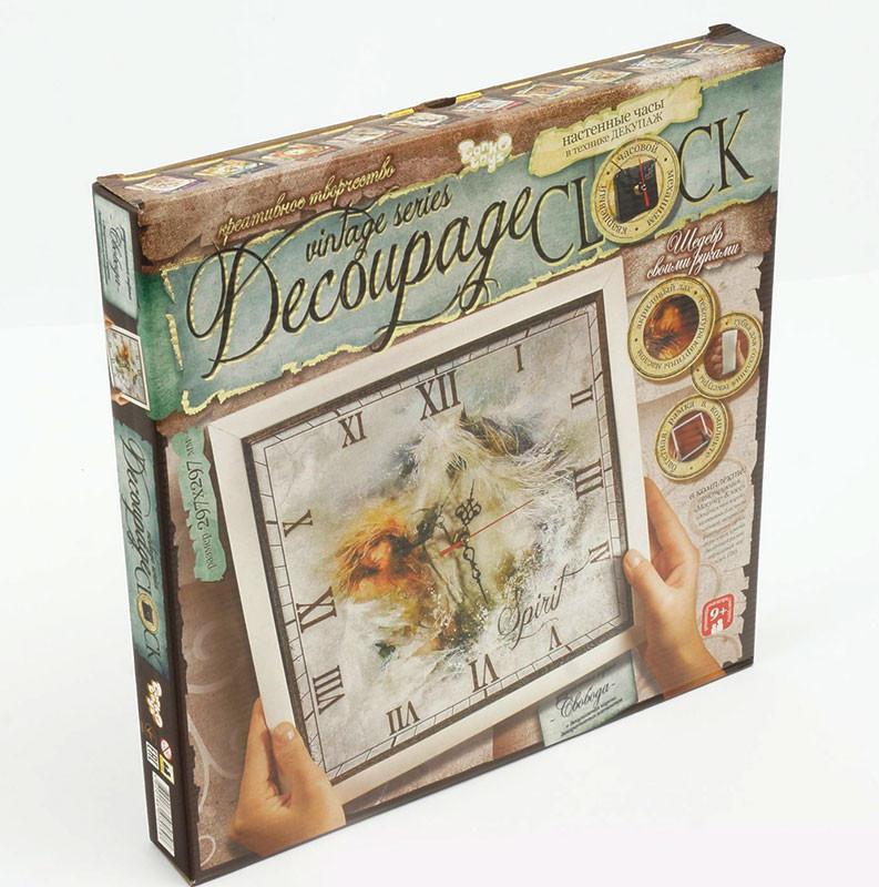 """Комплект креативної творчості """"DECOUPAGE CLOCK"""" з рамкою"""