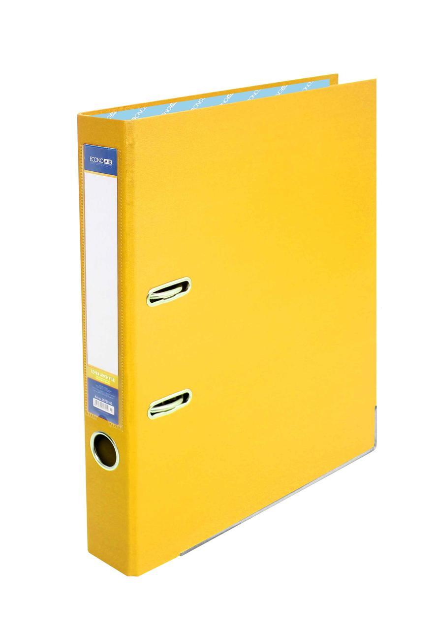 Папка-реєстратор Economix 39720*-05, А4, 50 мм, жовтий (зібрана)