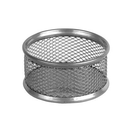 Підставка для скріпок 80*80*40мм, металева, срібло, фото 2