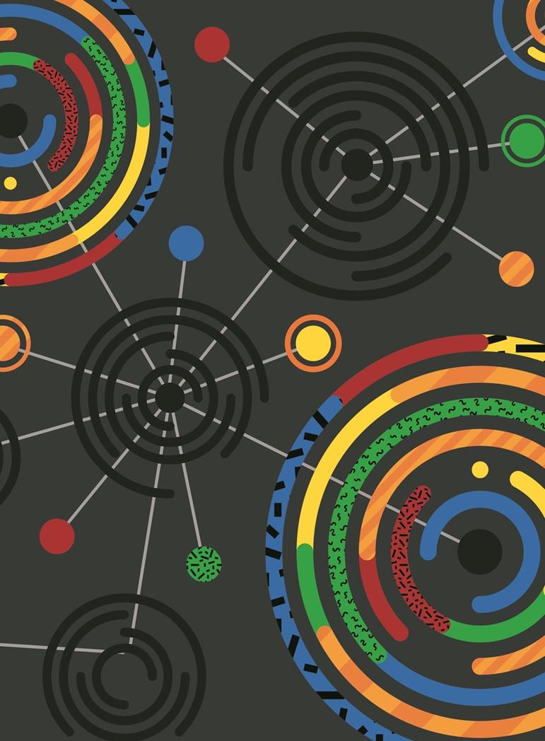Блокнот А4, 64 арк, клітка, бічна спіраль, м'яка карт.обкладинка, 1П003