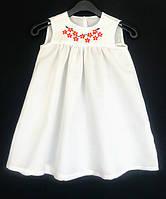 Платье для девочек с вышивкой, лен. Рост 116 см. Davanti .