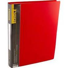 Дисплей-книга Scholz 06504, А4, 60файлів, РР, 800мкн, червона