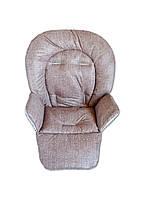 Чехол к стульчику для кормления Capella Piero Fabula коричневый джинс, фото 1