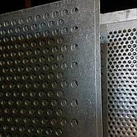 Решето (сито) для Сепаратора (710х1420 мм.), толщина 1, ячейка 3,5 мм, оцинкованный металл
