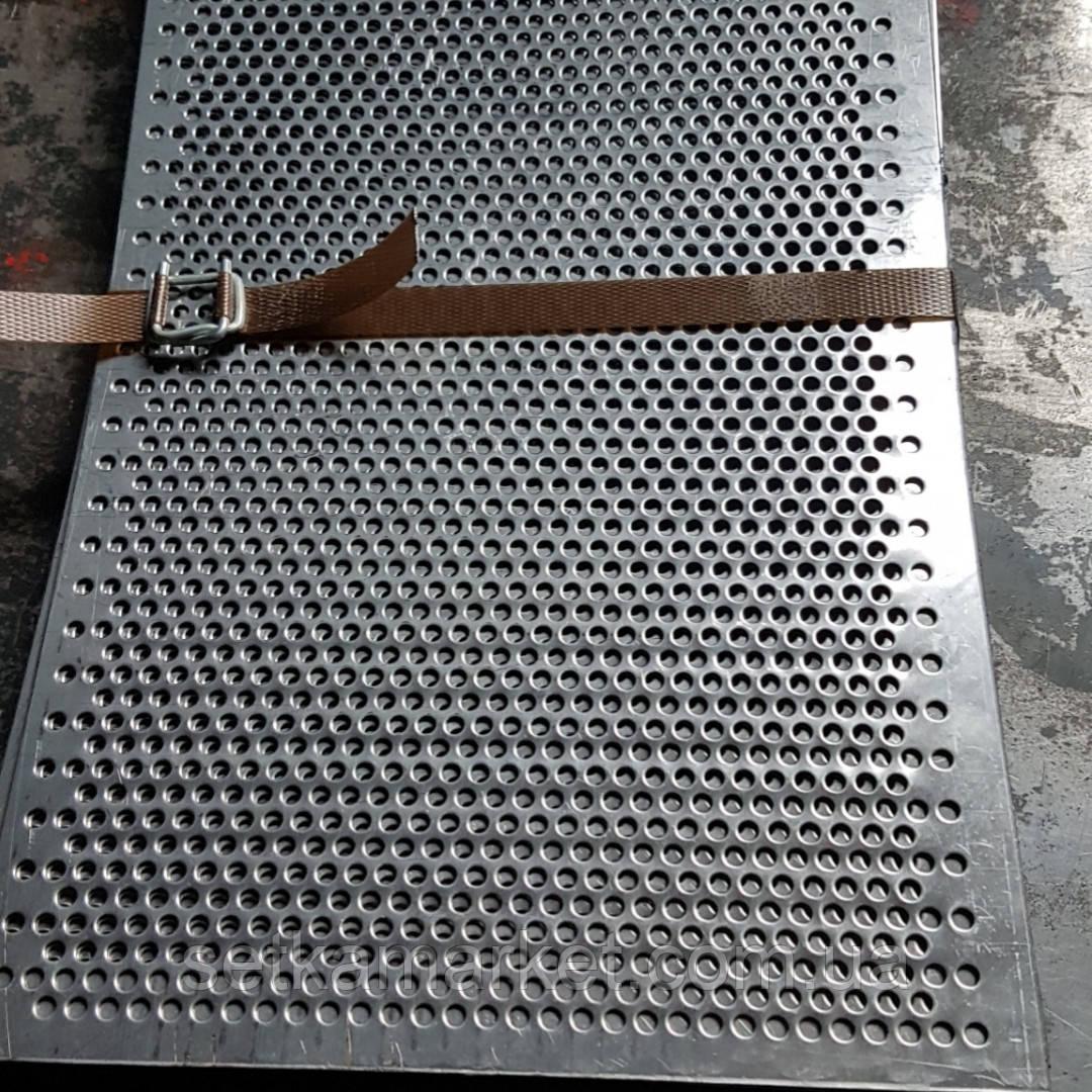 Решето (сито) для Сепаратора (710х1420 мм.), толщина 1, ячейка 3,8 мм, оцинкованный металл
