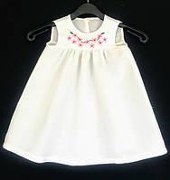Платье для девочек с вышивкой, лен. Рост 104 см. Davanti .