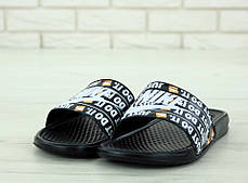 Nike just du it Black, мужские шлепанцы найк. ТОП Реплика ААА класса., фото 2