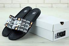 Nike just du it Black, мужские шлепанцы найк. ТОП Реплика ААА класса., фото 3