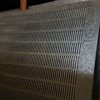 Решето (сито) для Сепаратора (710х1420 мм.), толщина 1 мм., ячейка 3,8х20  мм, оцинкованный металл
