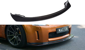 Дифузор переднього бампера губа елерон накладка тюнінг Nissan 350Z
