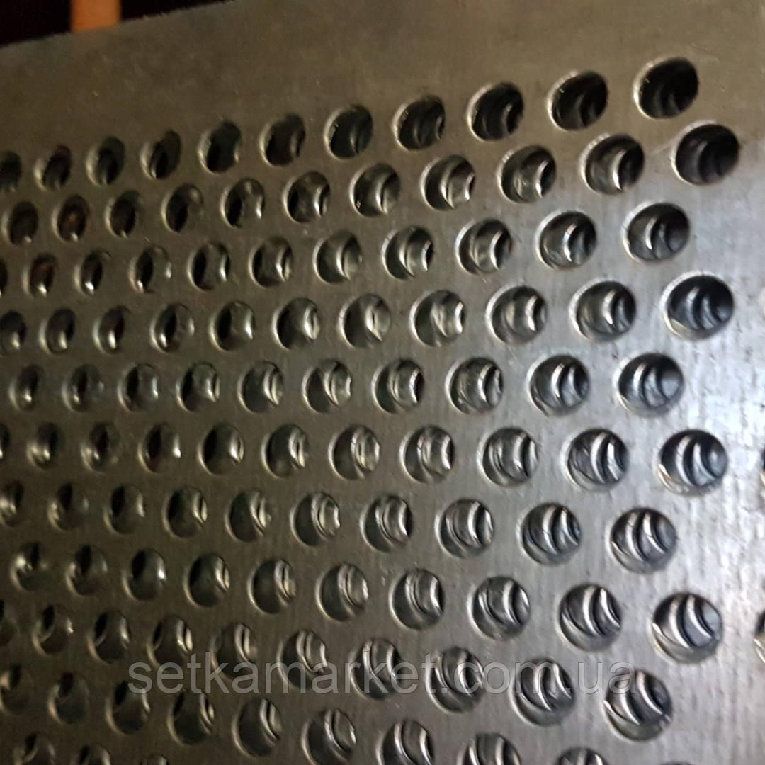 Решето (сито) для Сепаратора (710х1420 мм.), толщина 1 мм., ячейка 25  мм, оцинкованный металл