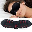 Светонепроницаемая мягкая маска для сна, чёрная, фото 4