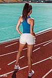 Повседневная трикотажная майка-боксерка синяя, фото 5