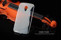 Силиконовый чехол Duotone для Motorola Moto G2 (XT1063 XT1068) прозрачный