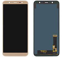 Дисплей (экран) Samsung J810, J810F Galaxy J8 (2018) TFT (с регулируемой подсветкой)с тачскрином, золотистый