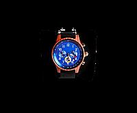 Деревянные наручные часы WoodenWatch Comandor ручной работы Синий (hubber-170-30)