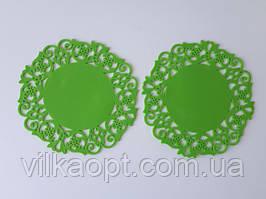 """Подставка силиконовая коврик под горячее Салфетка для чашки и тарелки в наборе 2 штуки """"Ажур"""" d 15 cm."""