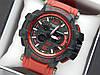 Наручний годинник Casio G-Shock GPW-1000 авіатор червоного кольору, червона стрілка