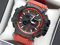 Наручний годинник Casio G-Shock GPW-1000 авіатор червоного кольору, червона стрілка, фото 1