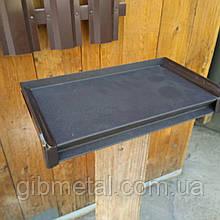 Торцева заглушка на віконний відлив, темно коричнева (RAL 8019)