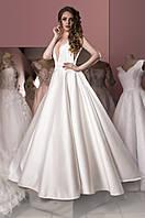 Свадебное платье из королевского атласа