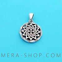 Звезда Эрцгаммы в круге талисман из серебра 925 пробы