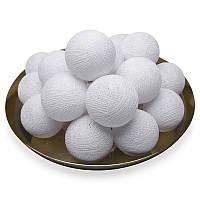Гирлянда 20 шариков  белый