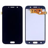 Дисплей для SAMSUNG A720 Galaxy A7 (2017) с чёрным тачскрином, с регулируемой подсветкой (ID:19272)