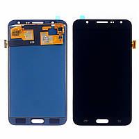 Дисплей для SAMSUNG J700 Galaxy J7 с чёрным тачскрином, с регулируемой подсветкой (ID:18631)
