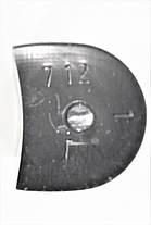 Каблук женский пластиковый 712 р.1-3  h-6,6-7,2 см., фото 3
