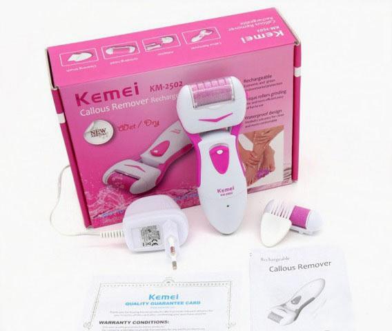 Электрическая роликовая пилка Kemei KM 2502 х2 (2 сменных ролика)
