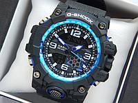 Мужские спортивные часы Casio G-Shock GG-1000 черные с синим
