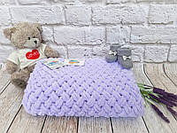 Плед дитячий 85х85 см Alize Puffy Бузковий №146 (Ручна робота), фото 1