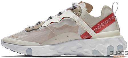 Женские кроссовки Nike React Element 87 Sail AQ1090-100, Найк Реакт Елемент, фото 2