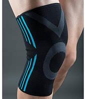 Эластический наколенник Power System Knee Support Evo PS-6021 M Black/Blue, фото 1