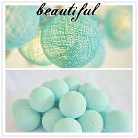 Гирлянда 20 шариков  голубой
