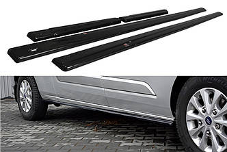 Боковые диффузоры порогов юбка элерон накладки тюнинг Ford Transit Custom MK1 рестайл