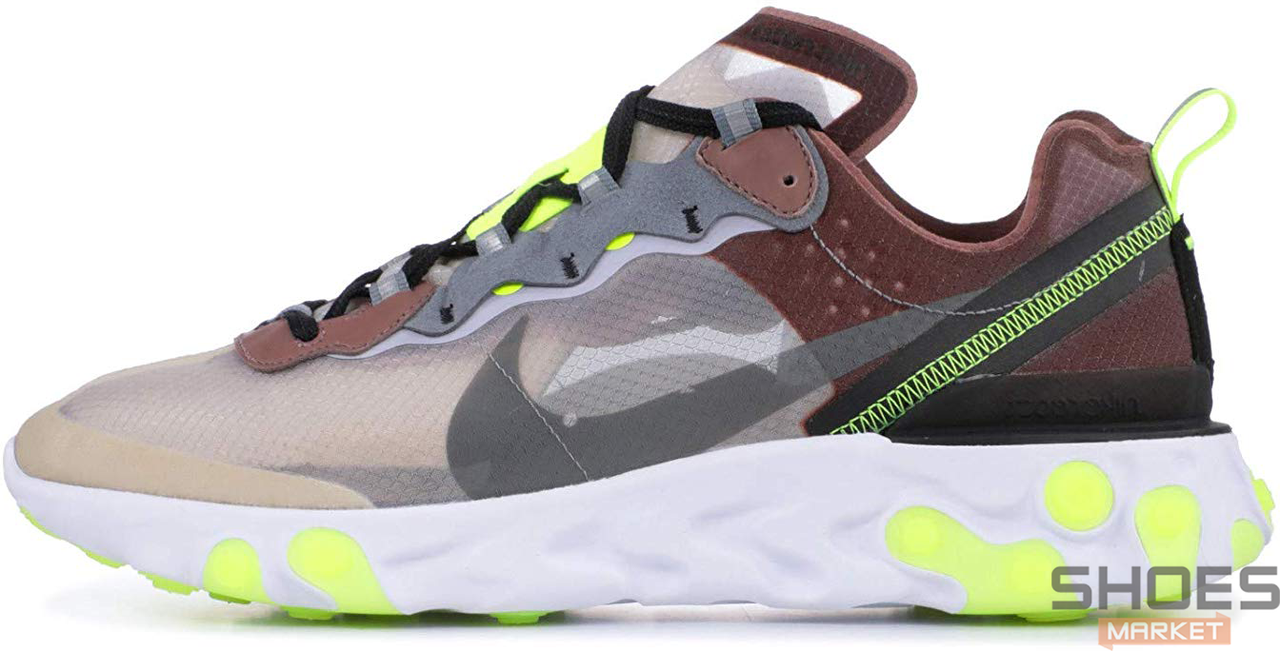 Мужские кроссовки Nike React Element 87 Desert Sand AQ1090-002, Найк Реакт Елемент