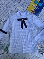 Школьная блузка для девочек  от 6 до 14 лет