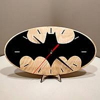 Часы настенные. Настенные деревянные часы Бетмен.