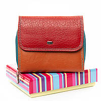 Жіночий гаманець Rainbow шкіра DR. BOND WRS-14 red.Купити жіночий шкіряний гаманець, фото 1