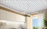 Поклейка пенопластовых панелей на потолок