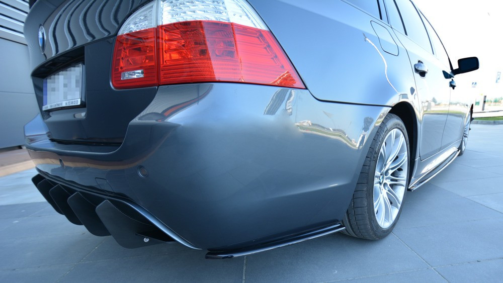 Боковые диффузоры заднего бампера юбка элерон накладки тюнинг BMW 5 E60 E61 M-pack
