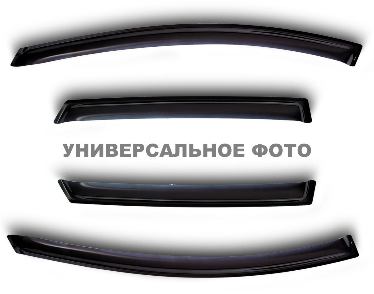 Дефлектори вікон (вітровики) Volkswagen PASSAT B7 седан, 11-, 4ч., темний